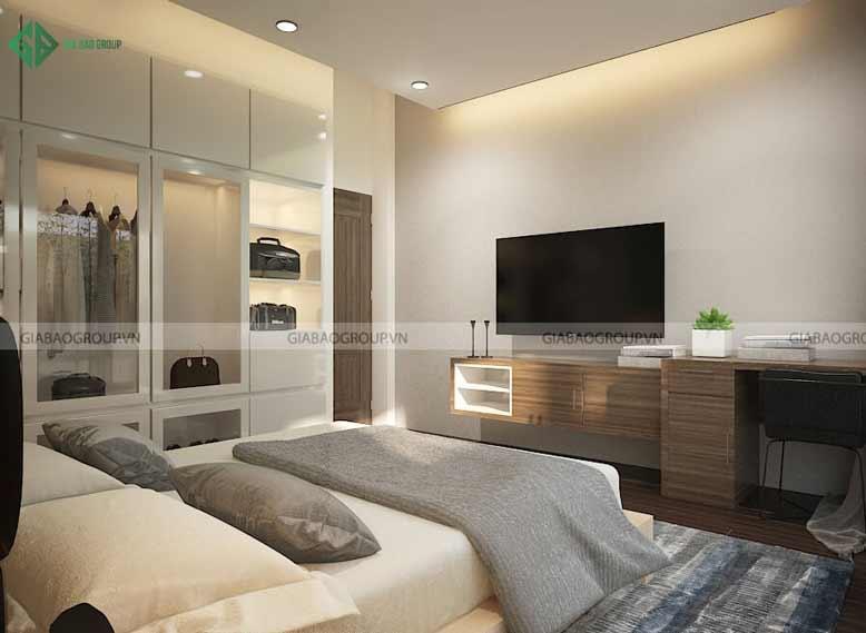 Thiết kế nội thất biệt thự không gian nhỏ cho phòng ngủ
