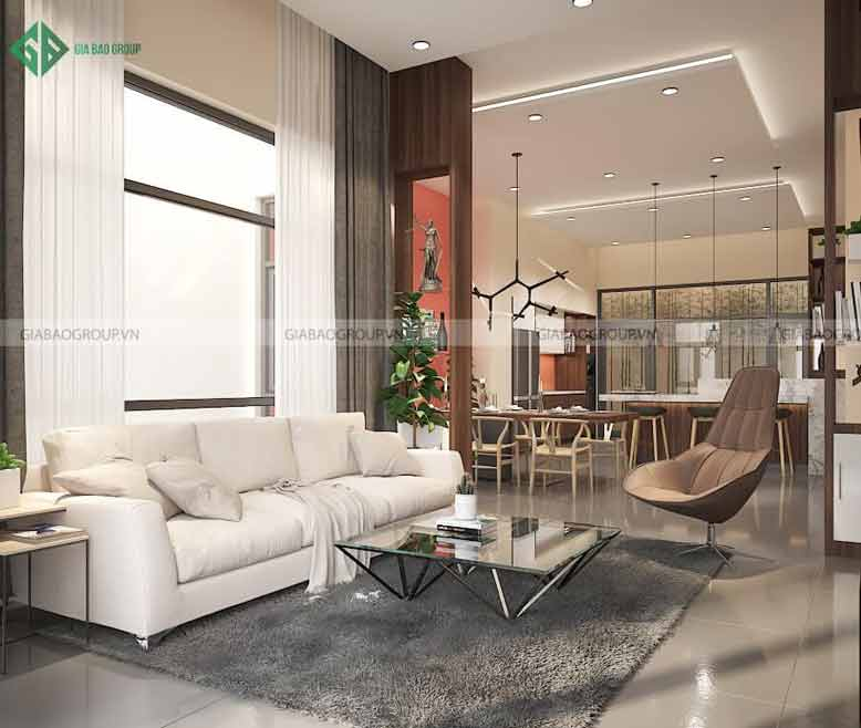 Thiết kế nội thất nhà biệt thự phong cách hiện đại cho phòng khách