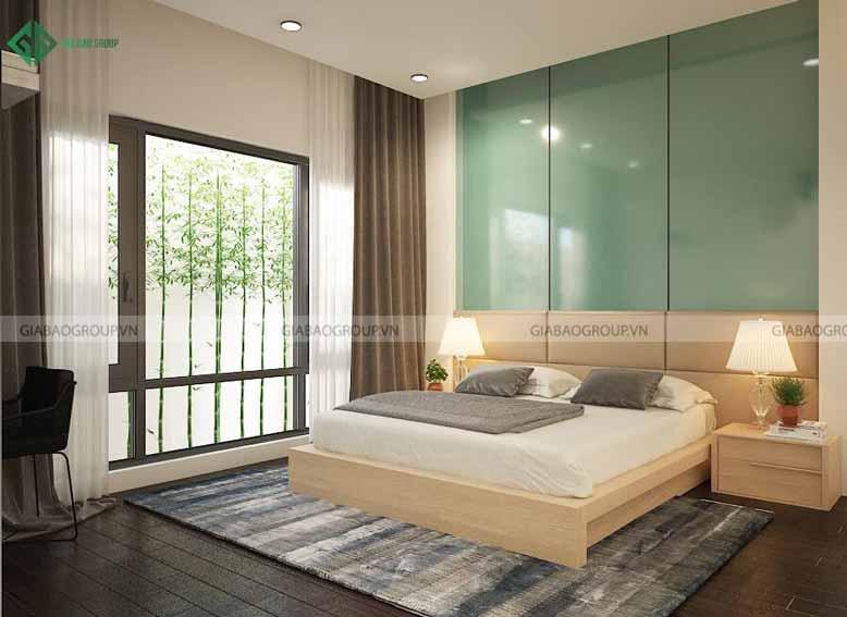 Thiết kế nội thất nhà biệt thự phong cách hiện đại cho phòng ngủ 2