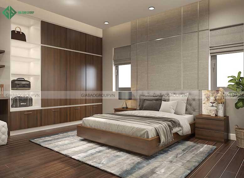 Thiết kế nội thất nhà biệt thự phong cách hiện đại cho phòng ngủ 3