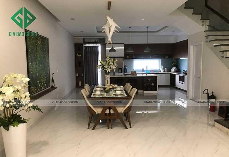 Thiết kế nội thất nhà liền kề cho phòng ăn