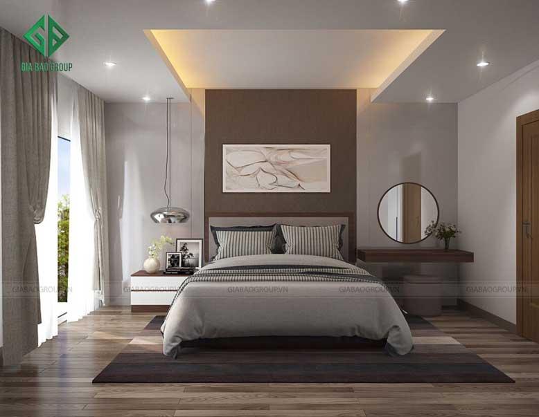 Thiết kế nội thất nhà phố hiện đại cho phòng ngủ