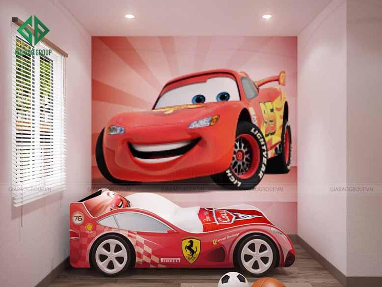 Thiết kế nội thất nhà phố hiện đại cho phòng ngủ của bé trai