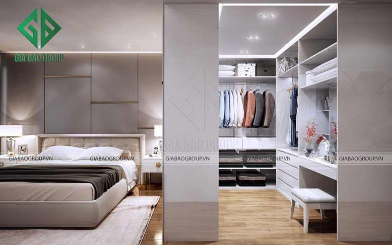 Phòng thay đồ với nội thất sang trọng