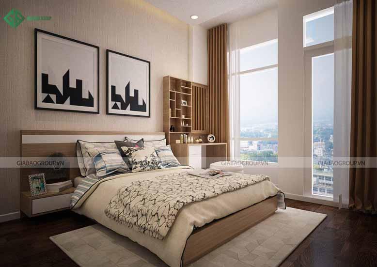 Thiết kế nội thất nhà phố cho phòng ngủ