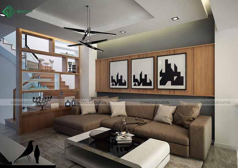 Thiết kế nội thất nhà phố cho phòng khách