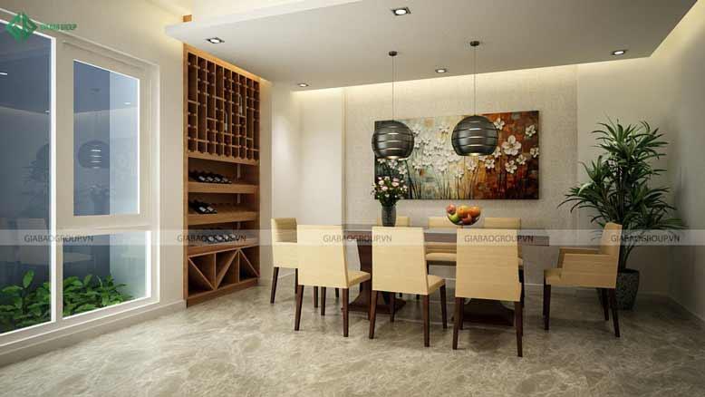 Thiết kế nội thất nhà phố cho phòng ăn