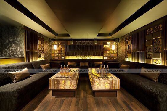 Thiết kế quán karaoke kiểu hiện đại