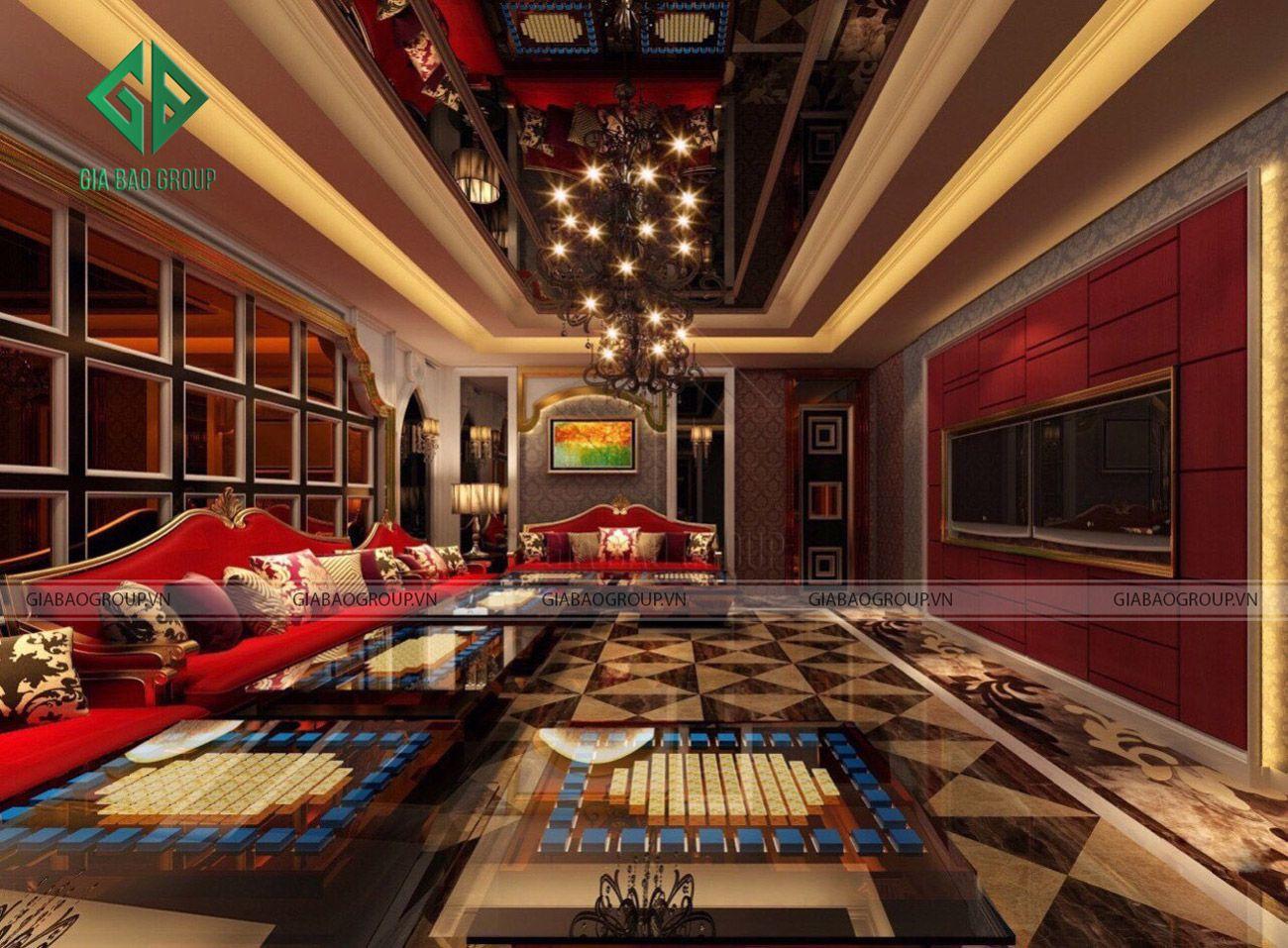 Thiết kế quán karaoke kiểu cổ điển