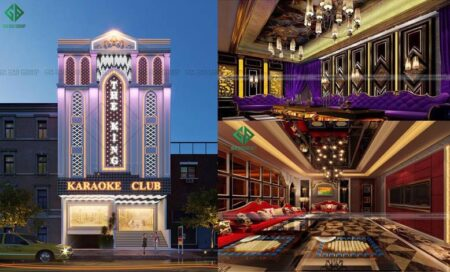 Thiết kế quán Karaoke kiểu tân cổ điển ấn tượng tại Quảng Ngãi