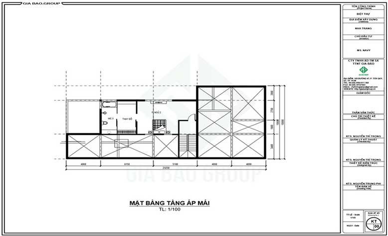 Bản vẽ tầng trệt của căn nhà