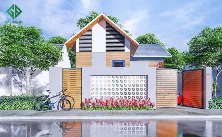 Thiết kế nhà cấp 4 đẹp xinh lung linh ở Quảng Ngãi