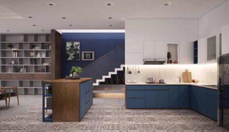 Thiết kế nội thất biệt thự mini 2 tầng, mái Thái độc đáo- NTBT01