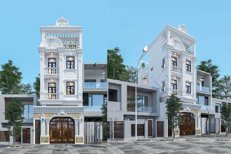 Nhà phố tân cổ điển với thiết kế ấn tượng