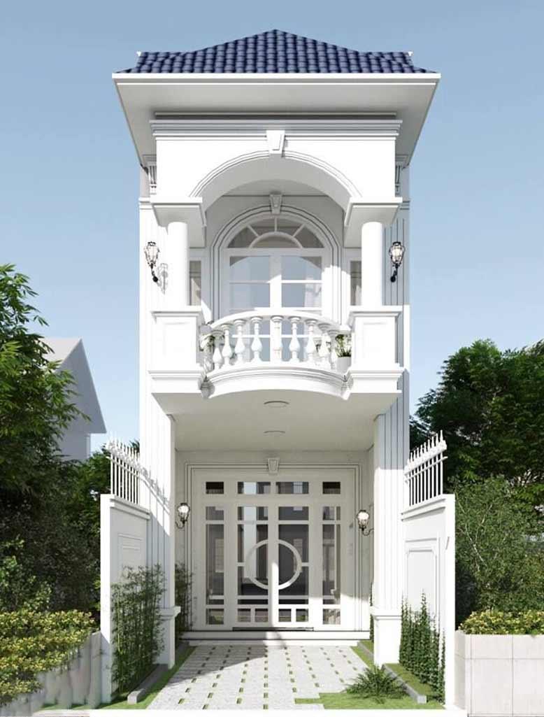 Thiết kế hoài cổ của nhà phố tân cổ điển 2 tầng đẹp lung linh