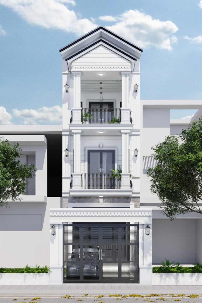 Sự đơn giản nhưng vẫn mang đến sự sang trọng của mẫu nhà phố tân cổ điển đẹp