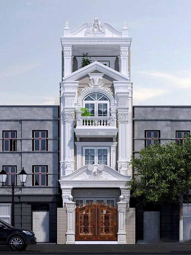 Hệ thức cột Iconic là đặc trưng của mẫu nhà phố tân cổ điển