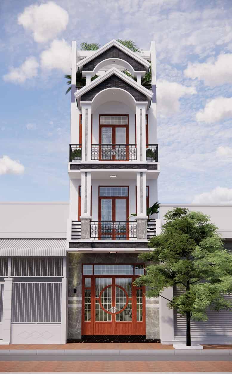 Kiến trúc nhà phố tân cổ điển mang lại sự bề thế, sang trọng hơn các loại nhà phố thông thường