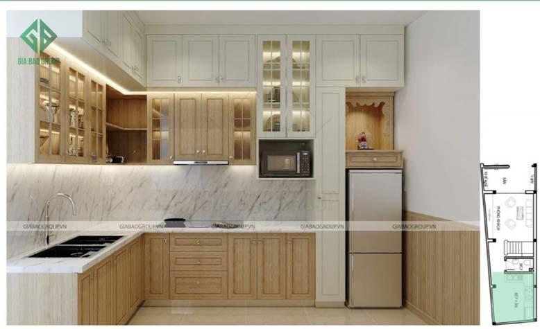 Nội thất nhà phố đẹp - phòng bếp