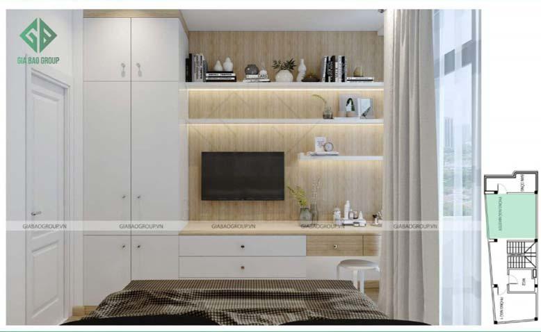 Thiết kế nội thất nhà phố đẹp - phòng ngủ Master sang trọng