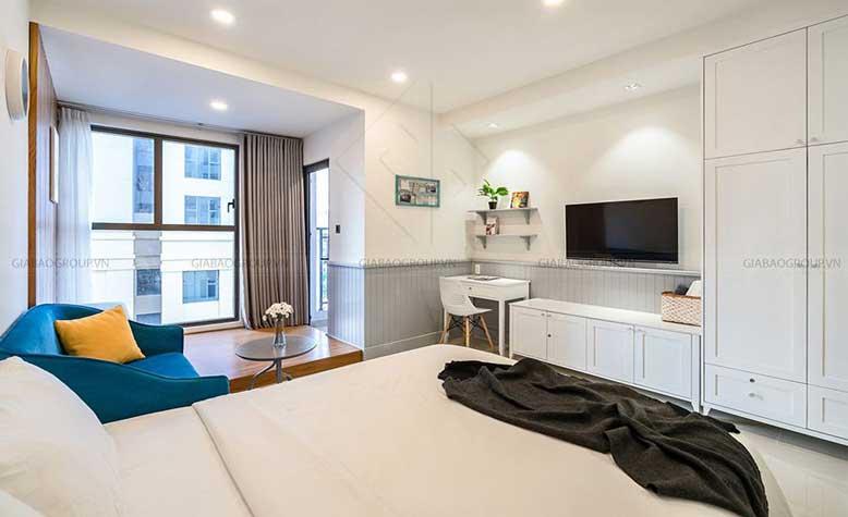 Phòng ngủ mẫu thiết kế nội thất chung cư đẹp - Gold View Q4