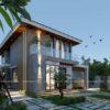 Mẫu biệt thự vườn 2 tầng đẹp sang trọng, hiện đại tại Nhơn Trạch, Đồng Nai