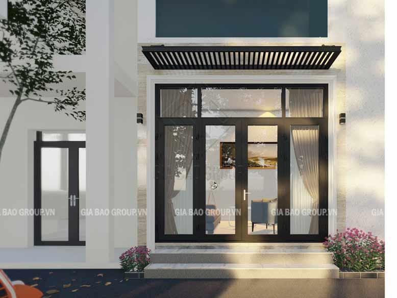 Màu trắng tôn lên sự đơn giản mặt tiền của căn nhà