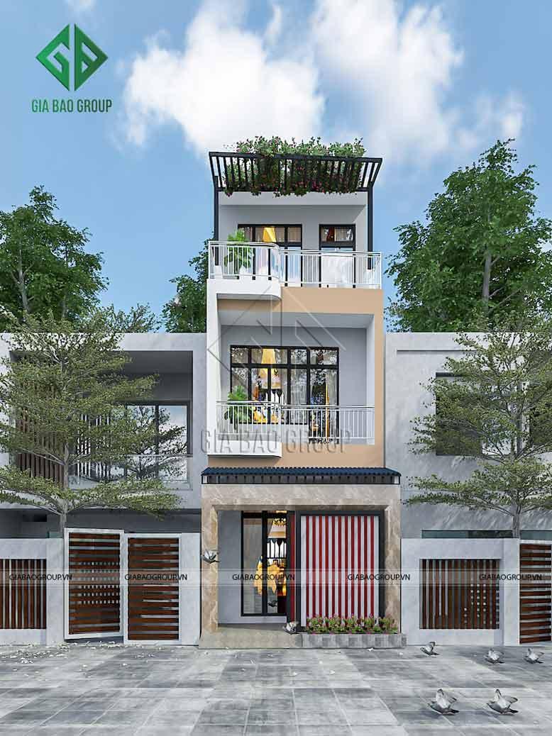 Thiết kế thi công nhà phố hiện đại, thời thượng