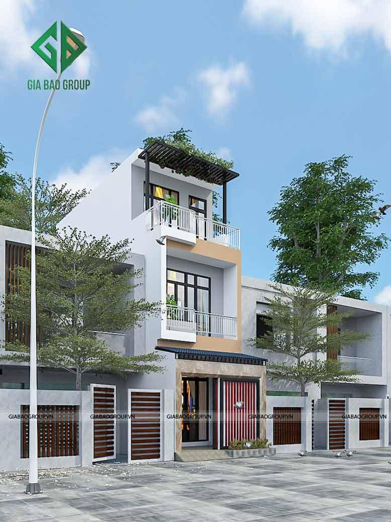 Thiết kế thi công nhà phố hiện đại