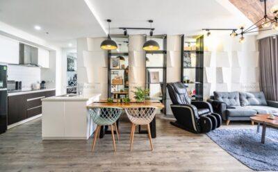 Thiết kế nội thất căn hộ 1 phòng ngủ hài hòa, bắt mắt tại chung cư The Tresor, quận 4