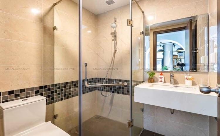 Cây xanh có mặt ở mọi nơi trong thiết kế nội thất căn hộ 1 phòng ngủ