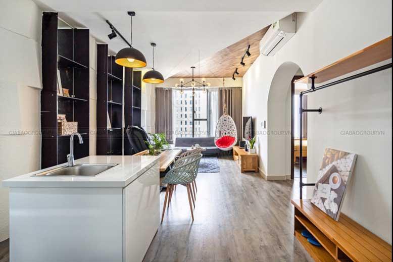 Hệ thống ánh sáng trong thiết kế nội thất căn hộ 1 phòng ngủ