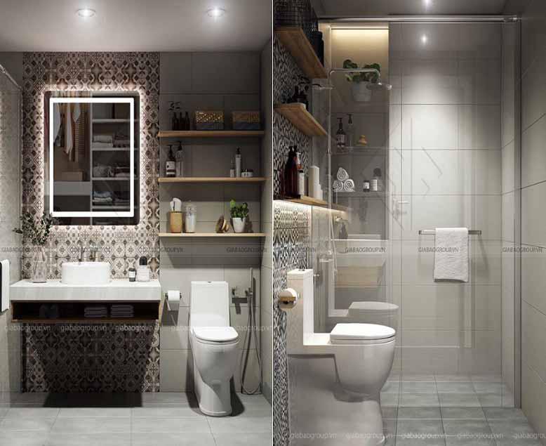 Thiết kế nhà vệ sinh - Thiết kế nội thất căn hộ 90m2