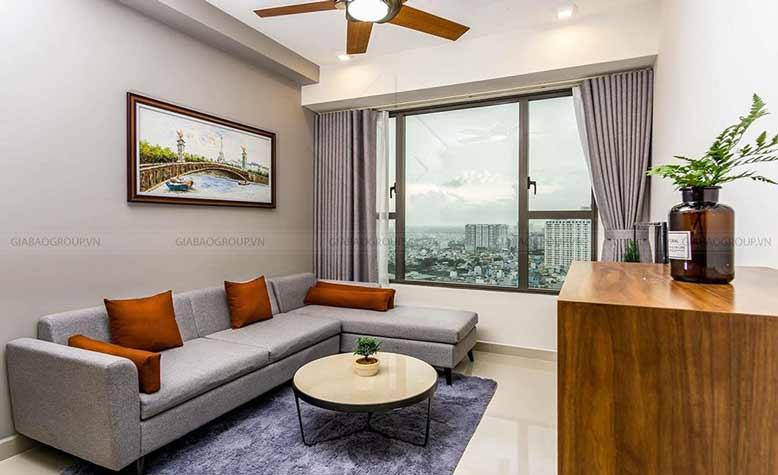Thiết kế nội thất căn hộ chung cư 70m2 cho phòng khách