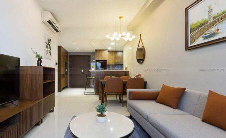 Ngắm vẻ đẹp ấm áp trong thiết kế nội thất căn hộ chung cư 70m2