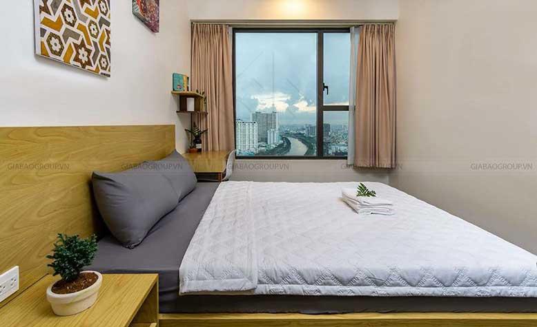 Thiết kế nội thất căn hộ chung cư 70m2 - phòng ngủ