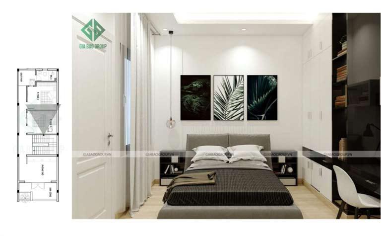 phòng ngủ master đơn giản không cầu
