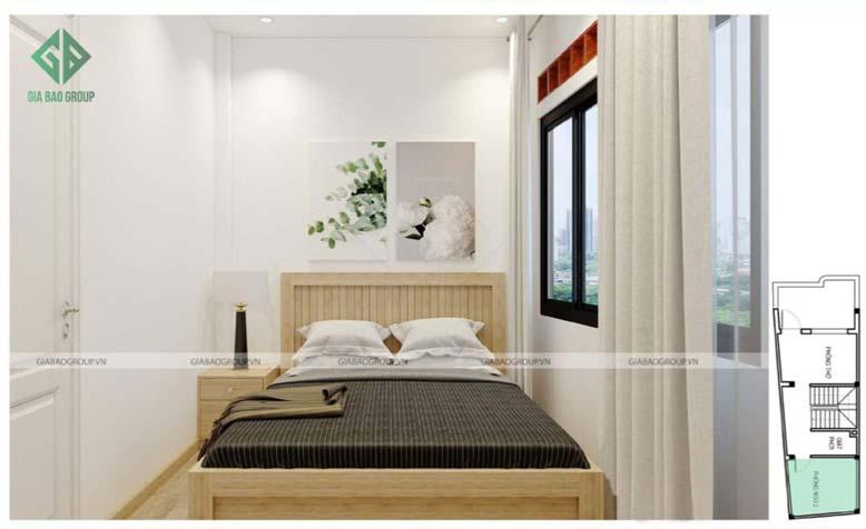 Thiết kế nội thất nhà phố đẹp- phòng ngủ đơn giản