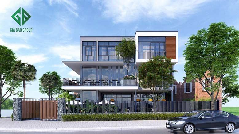 Công trình thiết kế thi công biệt thự kết hợp quán cafe tại TP Nha Trang.