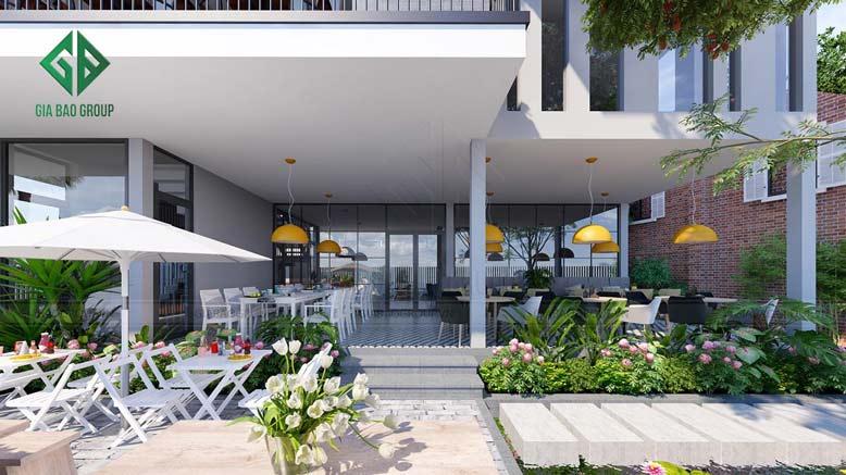 Công trình thiết kế thi công biệt thự kết hợp quán cafe