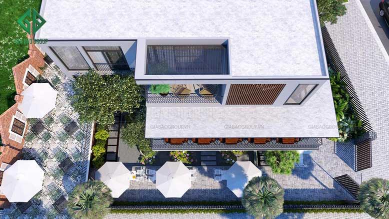 Thiết kế biệt thự kết hợp kinh doanh với không gian thoáng đãng