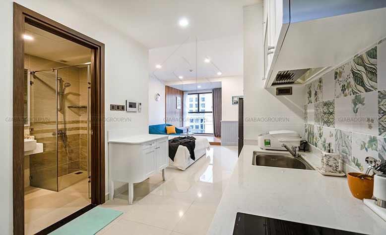 Thiết kế nội thất chung cư đẹp phong cách hiện đại cho phòng bếp