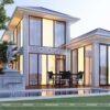 Thiết kế biệt thự 2 tầng mái ngói theo phong cách hiện đại- BT18