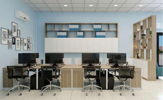 Thiết kế nội thất văn phòng đẹp bắt mắt