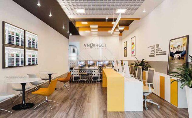 Thiết kế nội thất văn phòng chứng khoán VNDIRECT phong cách trẻ trung, hiện đại