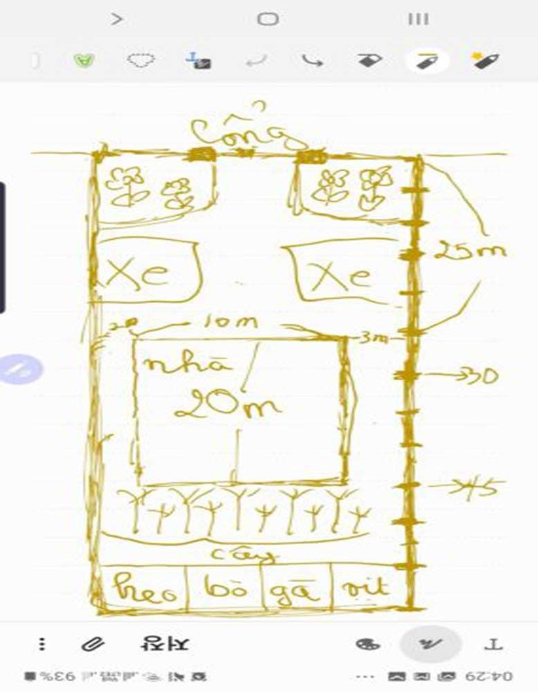 Ảnh khách hàng phác họa biệt thự mái thái 2 tầng