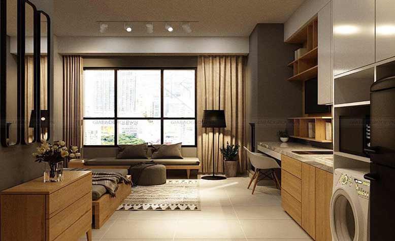 Thi công nội thất căn hộ Studio hiện đại- The Sun Avenue Novaland