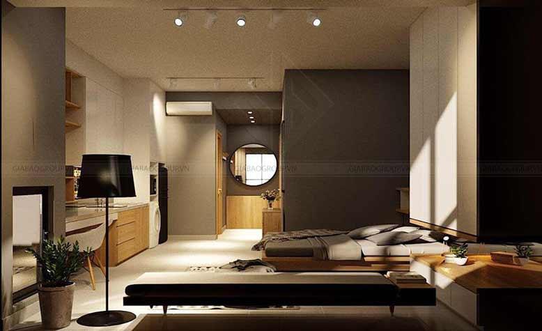 Phòng ngủ theo tông màu xám làm nổi bật lên phong cách thanh lịch và sang chảnh
