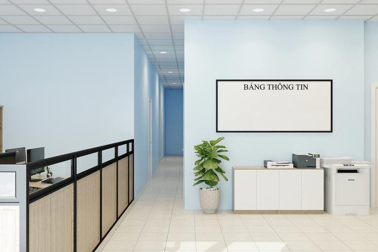 Hình ảnh văn phòng sau khi được thiết kế.
