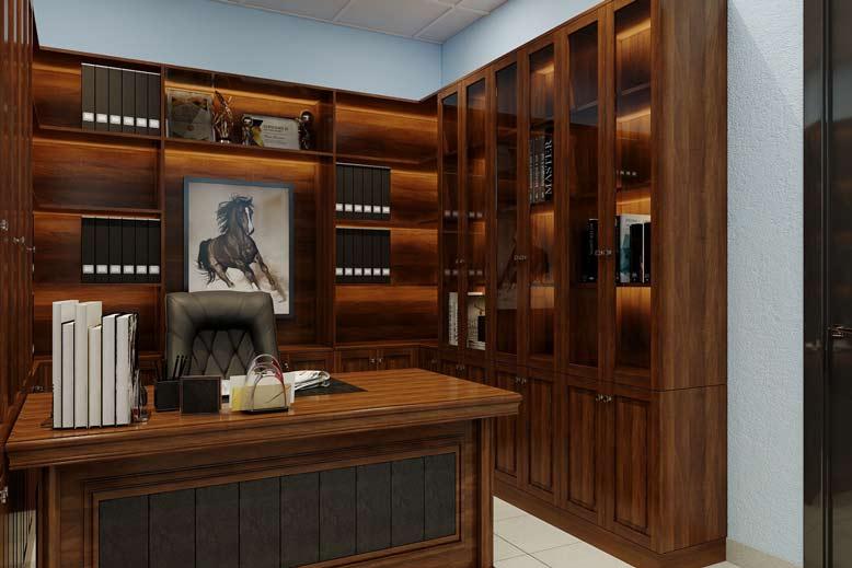 Nội thất văn phòng đẹp của phòng giám đốc sau khi thi công